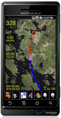 PathAway GPS on Android